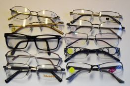 10 x Assorted Pairs of Designer Spectacle Eye Glasses - Ex Display Stock - Brands Include Calvin