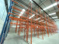 11 x Bays of RediRack Warehouse PALLET RACKING - Lot Includes 12 x Uprights and 46 x Crossbeams -