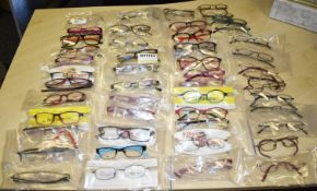 50 x Assorted Pairs of Spectacle Eye Glasses - New and Unused Stock - Various Designs and Brands