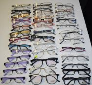 38 x Assorted Pairs of Spectacle Eye Glasses - Ex Display Stock - Various Designs and Brands
