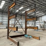 1 x Heavy Duty Cantilever Racking Unit - Ideal For Builders Merchants or Warehouses - 1 Ton Per