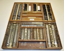 2 x Sets of Vintage Opticians Lenses in Wooden Cases - Ref: GTI151 - CL645 - Location: Altrincham