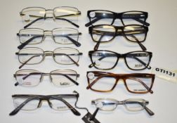 10 x Assorted Pairs of Designer Spectacle Eye Glasses - Ex Display Stock - Brands Include Jacques