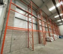 14 x Bays of RediRack Warehouse PALLET RACKING - Lot Includes 15 x Uprights and 60 x Crossbeams -