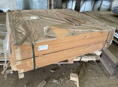 Pallet of 108 x Timber Wooden Panels - Unused Stock - Size: 195 x 18 cm - Unused Stock - Cut Out