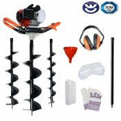 1 x High Performance 65cc Petrol Earth Auger and Fence Post Hole Borer - Brand New Boxed Stock -