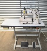 1 x Juki Union Special High-Speed Flat Bed Industrial Sewing Machine - Model FS332H01-3B56