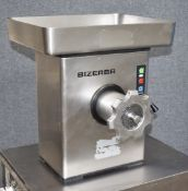 1 x Bizerba Meat Mincer - Stainless Steel Construction - Model FW-N 22/2 - 240v UK Plug - Recently
