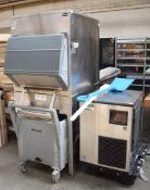 1 xHoshizaki FM-480AKE Modular Ice Flaker With Follett Storage Bin and Transport System - RRP £9500