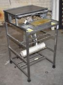 1 x Food Tray Wrapper Unit For Heat Sealed Wrapping - Dimensions: W56 cms - Ref: JXT395 WH4 -
