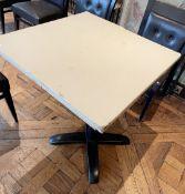 4 x Square Bistro Dining Tables - Dimensions: 76 x 76 x H79cm - Ref: BLVD127 - CL649 - Location: