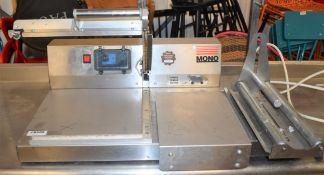 1 x Mono L Sealer With Stainless Steel Finish - CL626 - Model FG482-01 - Ref CB288 WH3 - Width 75cms