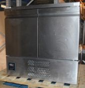 1 x WILLIAMS 2-Door Commercial Refrigerator Cabinet In Stainless Steel (H10CT) - Dimensions: H86 x