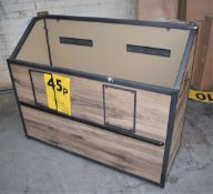 4x Supermarket Retail Stock Holders - Powder Coated Steel Frames With Finish Panelling and Offer