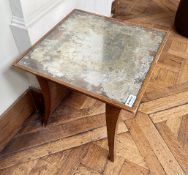 1 x Small Vintage Square Table With A Distressed Mirrored Top - Ref: BLVD109 - CL649 - Location: