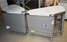 2 x Grundy Commercial Mobile Corner Units Suitable For Restaurants, Hotels, Events - Features Grey