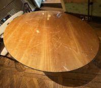 1 x Large Round Bistro Dining Table - Dimensions (approx) 182cm Diameter / 76cm Diameter - Ref: