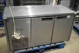 1 x Williams Countertop Commercial Refrigerator With Stainless Steel Exterior