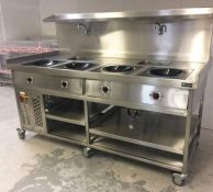 1 x 4 Pan 3-Phase Induction Wok in Excellent Condition - NO VAT ON THE HAMMER