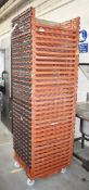 33 x Plastic Bread Basket Trays With Stand on Castors - Dimensions: 54 x 64 cms - Ref: GTI203