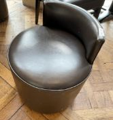 9 x Upholstered Restaurant Low Back Stools - Ref: BLVD108 - CL649 - Location: London W8