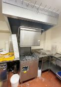 1 x Nelson Commercial Passthrough Dishwasher - Model SW1300WS - 500mm Basket Capacity - Includes