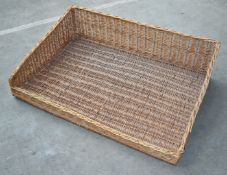 6 x Large Wicker Bread Baskets - Dimensions: W115 x D80 cms - Ref: CCA187 WH4 - CL595 - Location: