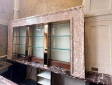 1 x Back Bar Featuring A 3-Metre Long Marble Display Unit With Glass Shelves And Undercounter
