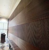 30 x Wooden Decorative Wall Panels - Sizes Vary - Ref: BLVD118 - CL649 - Location: London W8 Lot