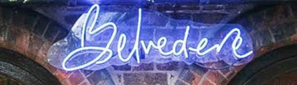 1 x Large Neon Signage In Blue - Ref: BLVD2 - CL649 - Location: London W8 Please note that this