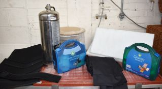Assorted Job Lot to Include Ansul 3 Gallon Fire Suppression Liquid Agent, Two Wall Mounted