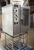 1 x Henny Penny MCS 101 Commercial Electric Combi Oven With Stainless Steel Stand - 3 Phase -