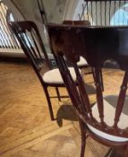 8 x Burgundy Dining Chairs With Upholstered Seats - Ref: BLVD132 - CL649 - Location: London W8 *