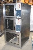 1 x Mono BX Bake Off Double Convection Steam Oven With Stainless Steel Exterior and Stand - Recently