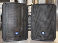 2 xRCF 175-Watt Two-Way Compact Monitor Speakers - Model Monitor 55- RRP £246 - Ref: JP/JP - CL700