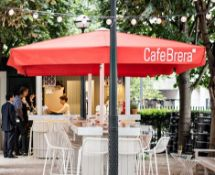 1 x Large Cafe Brera Outdoor Parasol With Heaters - More Information to follow - CL011 - Location: