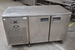 1 x Foster Two Door Counertop Refrigerator - Recently Removed From Major Supermarket Environment -
