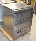 1 x Williams H5UC Double Drawer Commercial Fridge With Stainless Steel Exterior