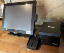 1 x AURES Yuno-base 151 EPOS Terminal With An ODP 333 Thermal Receipt Ticket Printer- Ref:
