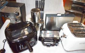 Various Selection of Kitchen Appliances - Includes Krups Coffee Maker, Livivo Fryer, DeLonghi