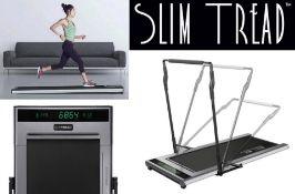 10 x Slim Tread Ultra Thin Smart Treadmill Running / Walking Machines - Lightweight With Folding