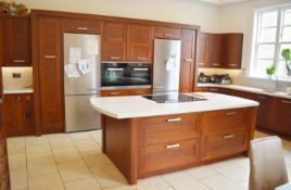 1 x Bespoke Contemporary Fitted Kitchen With Appliances - Features Solid Walnut Doors - NO VAT!