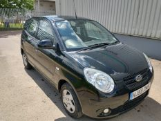 2009 Kia Picanto 1 1.0 Petrol 5dr Hatchback - CL505 - NO VAT ON THE HAMMER - Location: Corby