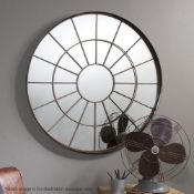 1 x 'Battersea'Large Industrial-styleMirror Framed In Metal With A Bronze Finish- Dimensions: