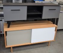 2 x Contemporary TV Units From Bluesuntree - CL508 - Ref MD170/LF203 WH4 - Location: Altrincham