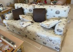 1 x Voluptuous Two Seater Sofa With Removable Bespoke Fabric Covers and Scatter Cushions - NO VAT ON
