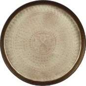 1 x 'Waitress' Large Metal Decorative Moroccan-Style Tray By Woood Designs- Dimensions:44 × 44 × 6