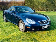 2003 Lexus SC430 Auto 4.3 - CL999 - NO VAT ON THE HAMMER - Location: Altrincham WA14 Description: