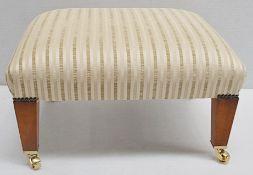 1 x DURESTA Luxury Upholstered Somerset Stool - Dimensions: W68 x 56 x H44cm - Ref: 6404570/