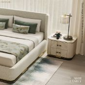 1 x FRATO 'ASHI' Luxury Custon Ordered Stone-topped Bedside Table - Original Price £5,140